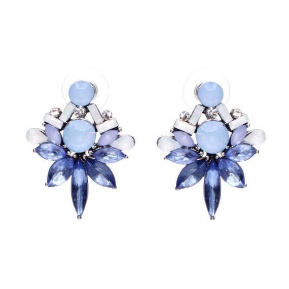 Cercei cristale albastre Renata Blue