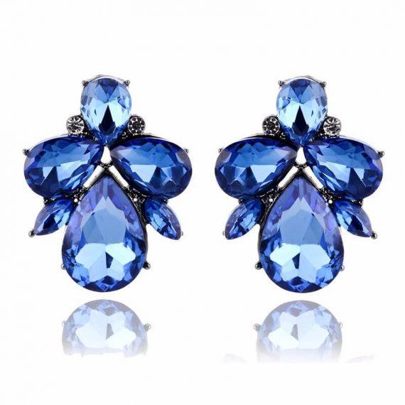 Cercei cristale albastre Taylor Blue