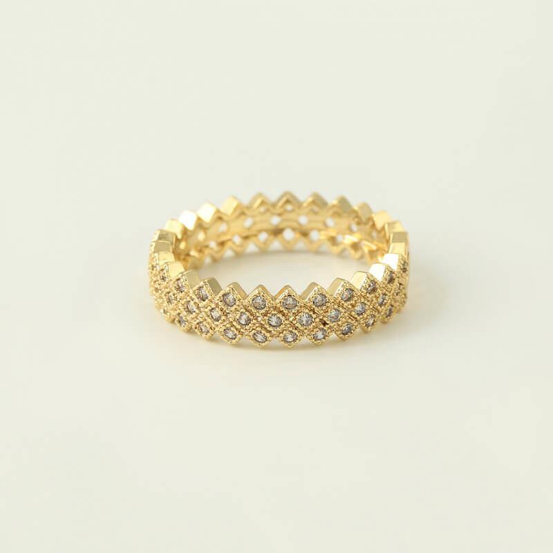 Set cercei si inel Lara placat cu aur 14K