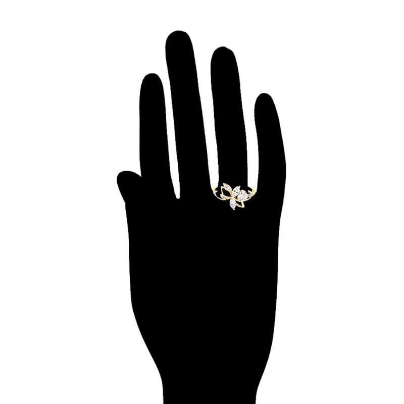 Set cercei și inel Maria placat cu aur 14K