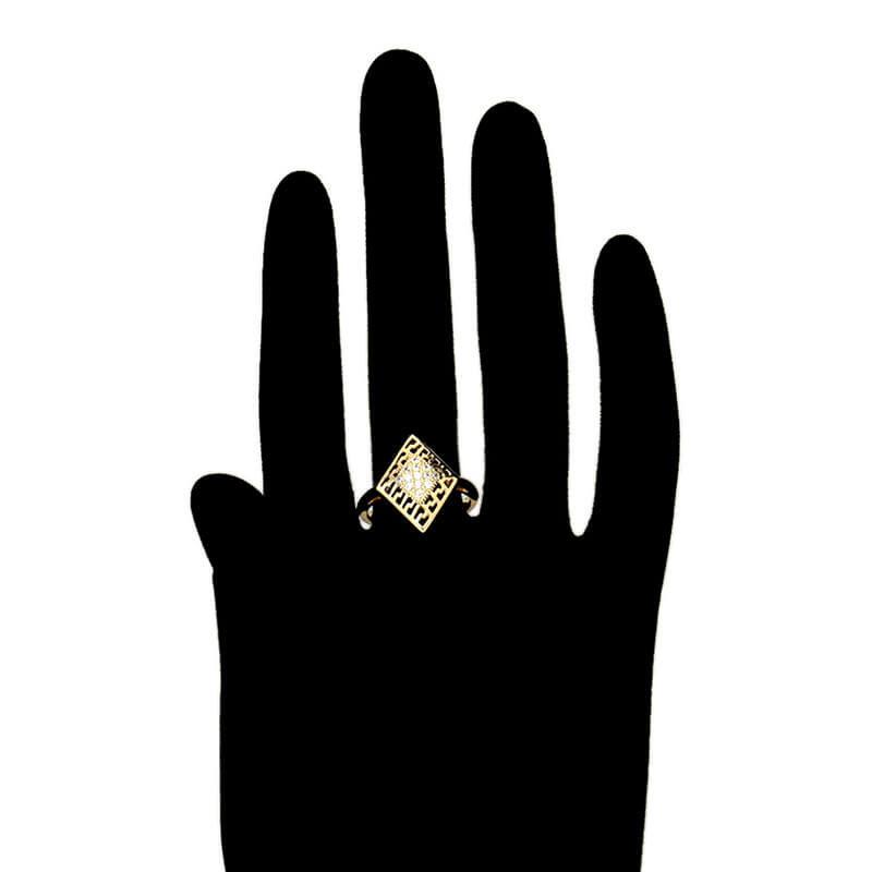 Set cercei si inel Zoe placat cu aur 18K