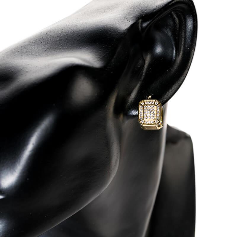 Cercei Aris placati cu aur 18K
