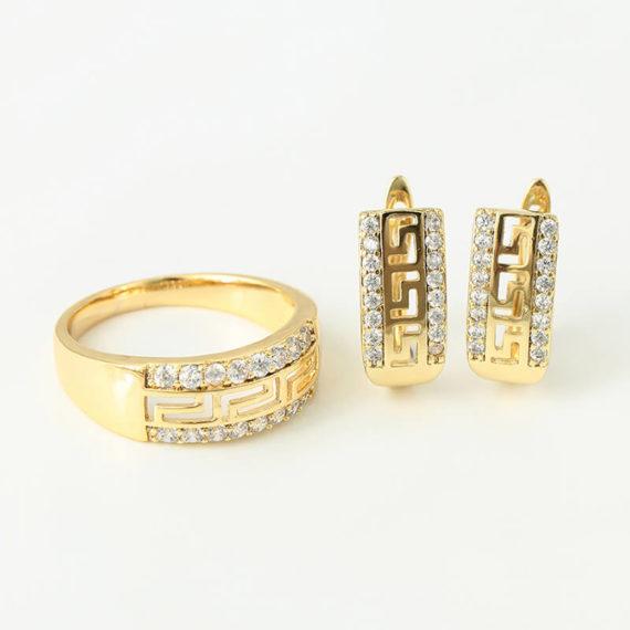 Set Athena placat cu aur 14K